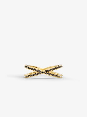 Michael Kors 14K Gold-Plated Sterling Silver Pave Nesting Ring