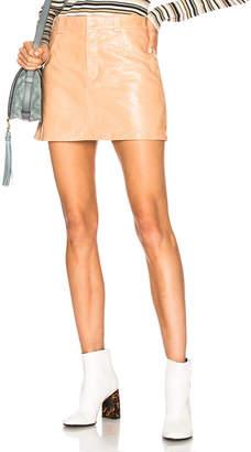 Chloé Shiny Crackled Leather Mini Skirt