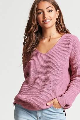 Forever 21 Ribbed V-Neck Sweater