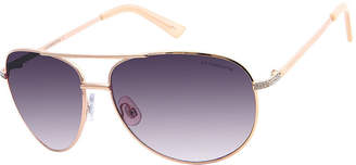 Liz Claiborne Full Frame Aviator UV Protection Sunglasses-Womens