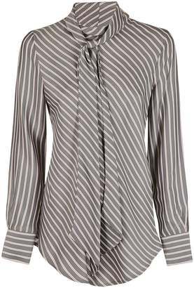 See by Chloe Striped Tie Neck Shirt