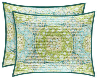 J Queen New York J by J Queen Avalon Green King Quilted Sham Bedding