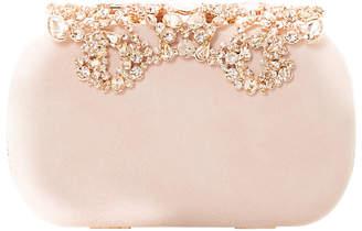 Dune Estella Jewel Embellished Suede Clutch