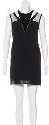 The Kooples Velvet-Trimmed Cutout Dress