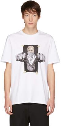 Neil Barrett White Boxing Brutus T-Shirt
