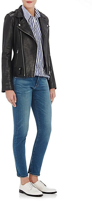 Frame Women's Le Garcon Boy-Fit Jeans-Black