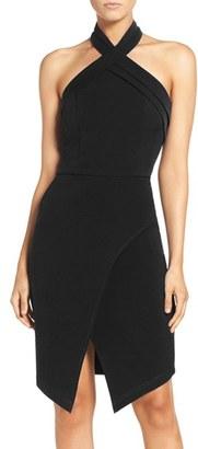 Women's Adelyn Rae Halter Asymmetrical Sheath Dress $88 thestylecure.com
