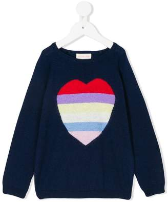 Simple heart intarsia jumper