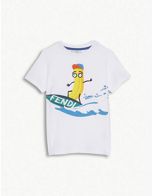 Surfing banana cotton T-shirt 4-12 years