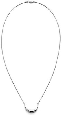 "Shinola Jewelry Small Sterling Silver Crescent Pendant Necklace, 18"" $250 thestylecure.com"