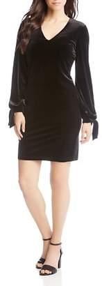 Karen Kane Velvet Tie Sleeve Dress