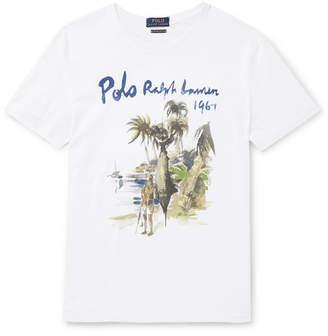 Polo Ralph Lauren Slim-Fit Printed Cotton-Jersey T-Shirt