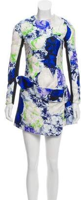 Josh Goot Silk Printed Mini Dress