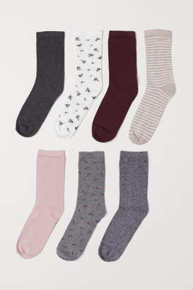H&M 7-pack Socks - White