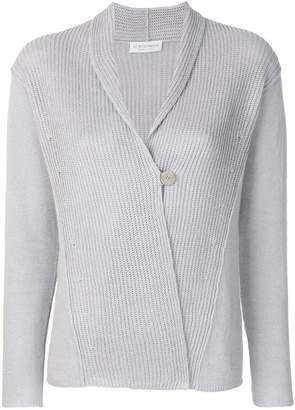 Le Tricot Perugia one button cardigan