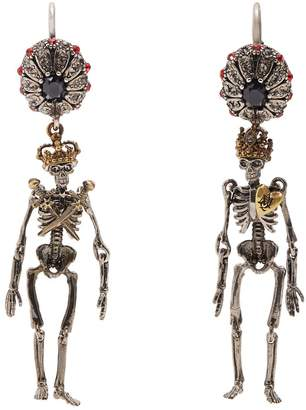 Alexander McQueen Embellished-skeleton earrings