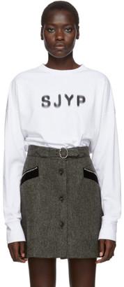 Sjyp White Logo Long Sleeve T-Shirt