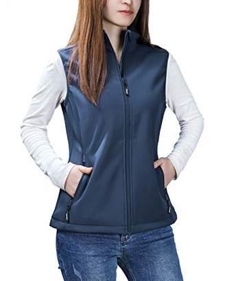 Outdoor Ventures Women's Mia Lightweight Sleeveless Fall Windproof Soft Bonded Fleece Softshell Zip Vest