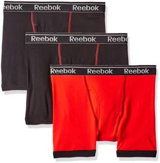 Reebok Men's Gift Box: 3pk Cotton Boxer Brief (Fly), Riot Red/Black