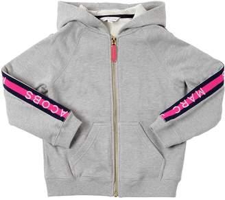 Little Marc Jacobs Logo Zip-Up Cotton Sweatshirt Hoodie