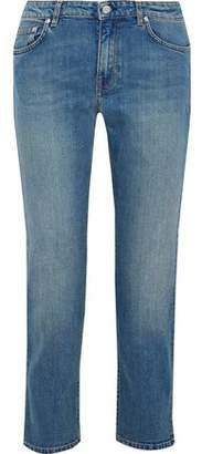 Acne Studios Lit Carter Cropped Mid-Rise Straight-Leg Jeans