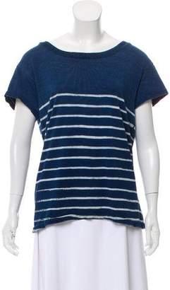 Current/Elliott Distressed Striped T-Shirt