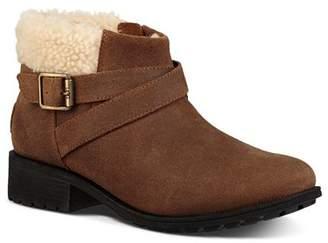 UGG Women's Benson Round Toe Leather Booties