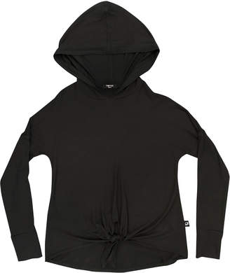 Terez Tie-Front Hooded Top, Size 7-16