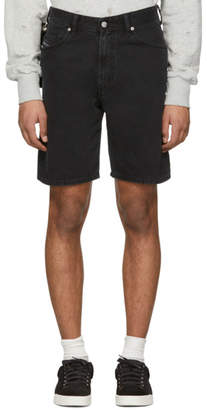 Diesel Black Denim D-Wiloh Shorts