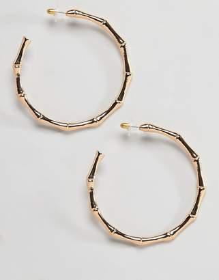 At Asos Designb London Oversized Bamboo Hoop Earrings