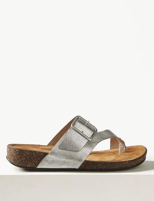 Marks and Spencer Wide Fit Leather Flip-flops Sandals