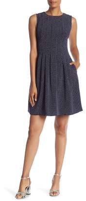 Anne Klein Dot Print Fit & Flare Dress