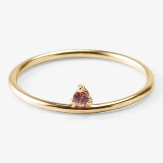 Wwake One-Step Ring Yellow Gold & Pink Sapphire