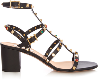 VALENTINO Rockstud Rolling leather sandals $1,395 thestylecure.com