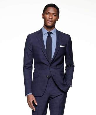 Todd Snyder Black Label Sutton Suit Jacket in Italian Navy Windowpane Tropical Wool