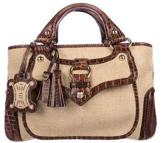 Leather Bag With Side Pocket Handbag Pre Owned At Therealreal Celine Raffia Boogie Tote