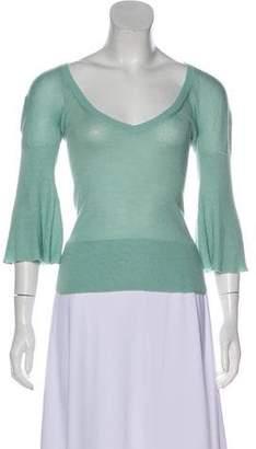 Prada Three-Quarter Sleeve Knit Top