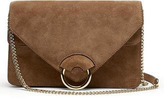 Brown Italian Suede Accordion Bag $178 thestylecure.com