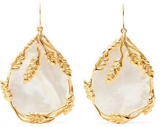 Aurelie Bidermann Francoise Gold-plated Pearl Earrings