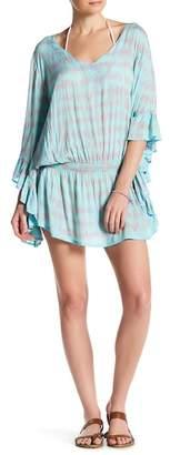 Tiare Hawaii Fern Ruffle Sleeve Dress