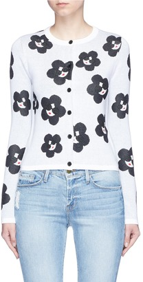 alice + olivia 'Ruthy' floral Stace Face cardigan $375 thestylecure.com