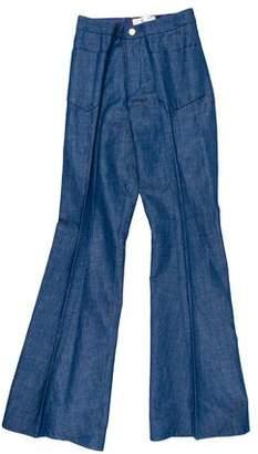 Co Mid-Rise Wide-Leg Pants w/ Tags