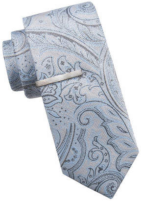 699034309baed Silver Paisley Tie - ShopStyle