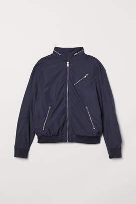 H&M Nylon-blend Bomber Jacket - Blue