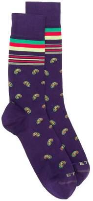 Etro paisley socks