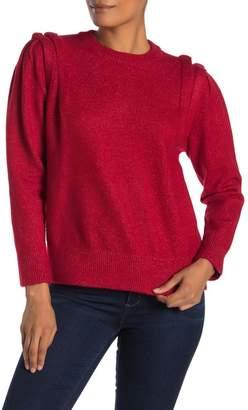 Moon River Folded Shoulder Knit Sweater