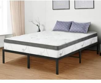 GranRest 14'' Platform Bed with Wooden slat, Queen