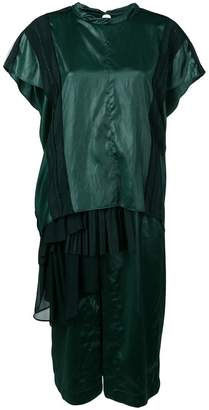 Carven liquid satin pleated gown