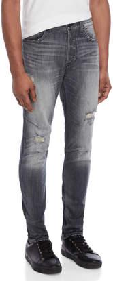 Hudson Vaughn Skinny Ankle Zip Jeans