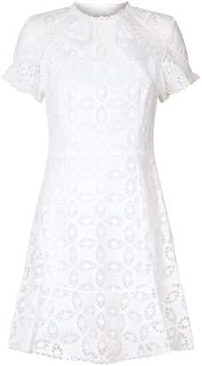 Sandro Lace Ruffled Dress